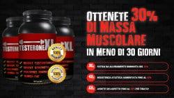Testosterone XL: aumenta la massa muscolare del 30%